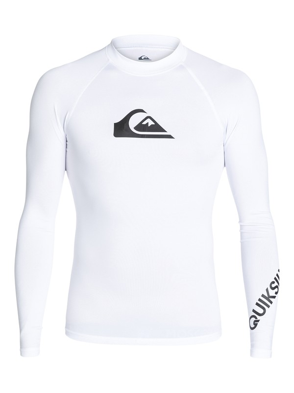 0 All Time Long Sleeve UPF 50 Rash Guard White EQYWR03034 Quiksilver