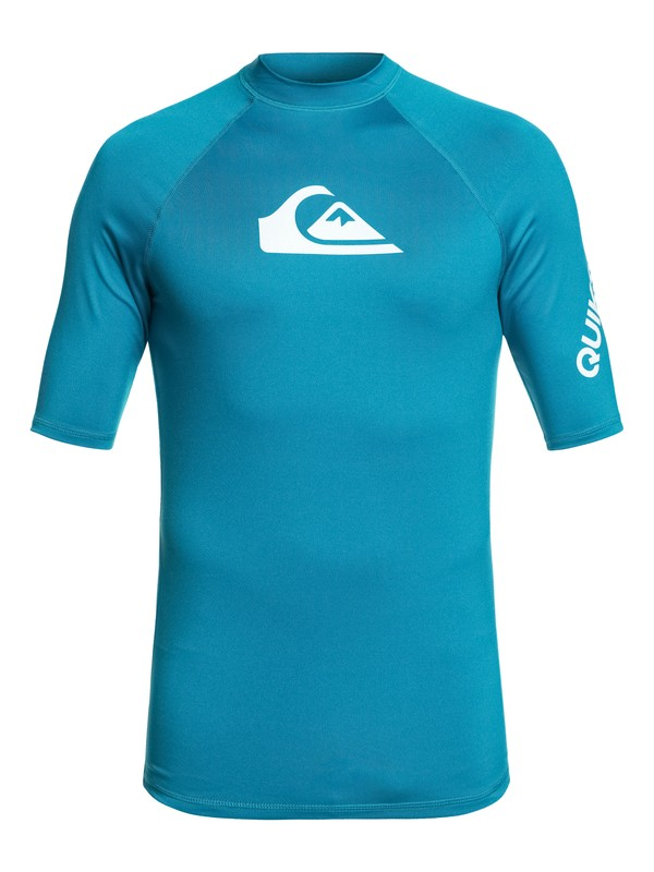 0 All Time Short Sleeve UPF 50 Rashguard Blue EQYWR03136 Quiksilver