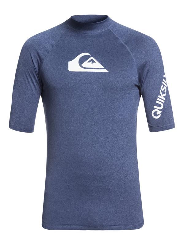 0 All Time Short Sleeve UPF 50 Rashguard Blue EQYWR03136 Quiksilver