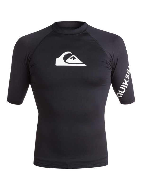0 All Time Short Sleeve UPF 50 Rashguard Black EQYWR03136 Quiksilver