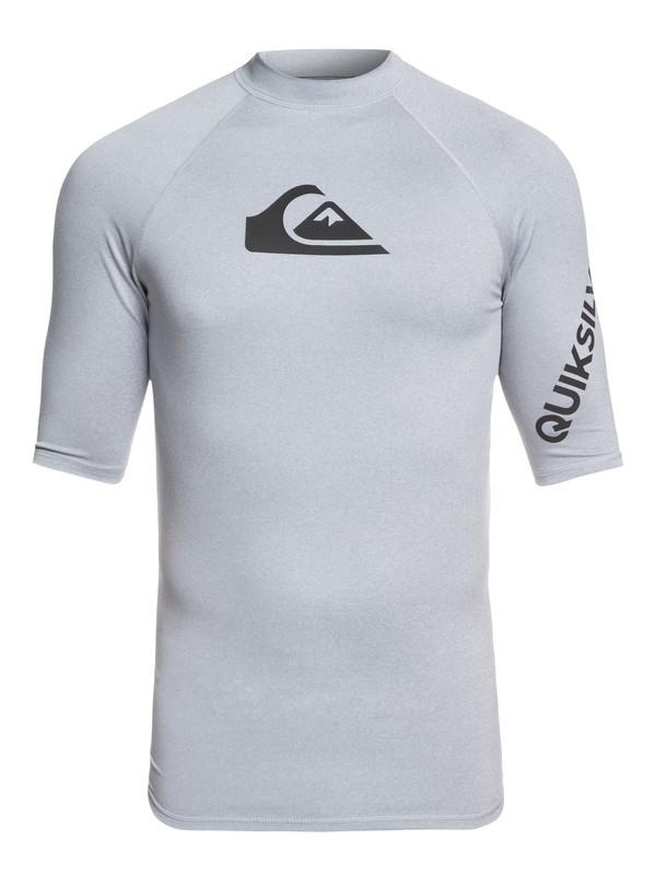 0 All Time Short Sleeve UPF 50 Rashguard Grey EQYWR03136 Quiksilver