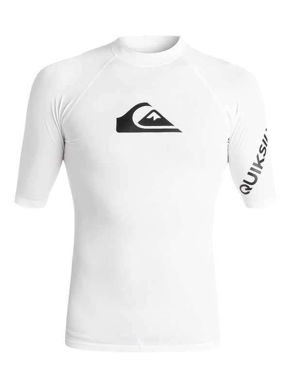 0 All Time Short Sleeve UPF 50 Rashguard White EQYWR03136 Quiksilver