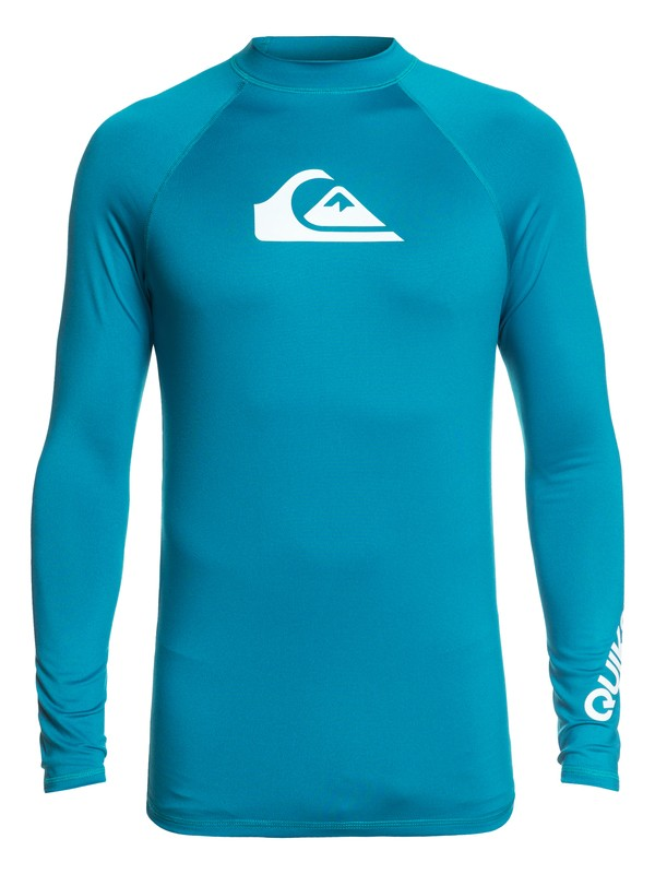 0 All Time Long Sleeve UPF 50 Rashguard Blue EQYWR03137 Quiksilver