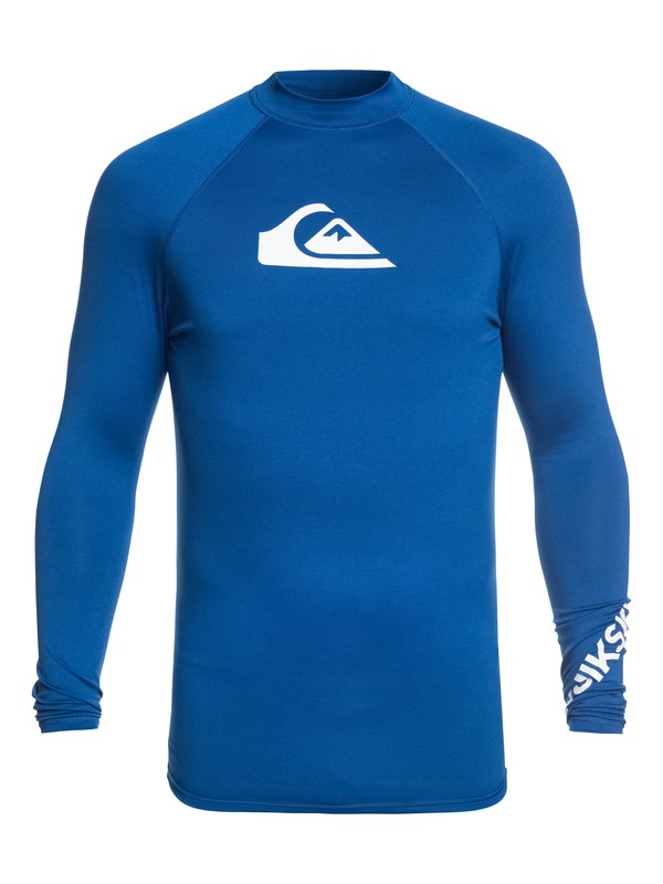 0 All Time Long Sleeve UPF 50 Rashguard Purple EQYWR03137 Quiksilver
