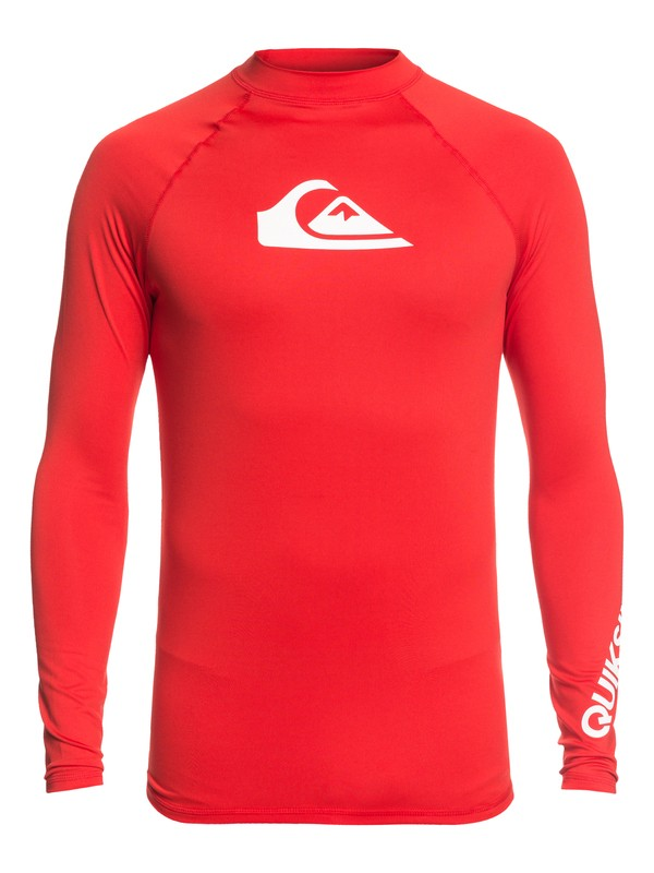 0 All Time Long Sleeve UPF 50 Rashguard Red EQYWR03137 Quiksilver