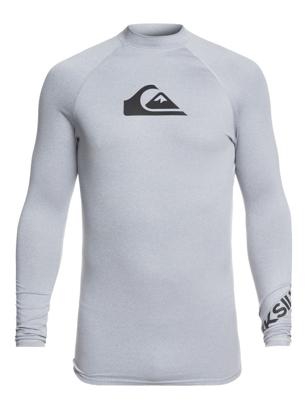 0 All Time - Long Sleeve UPF 50 Rash Vest Grey EQYWR03137 Quiksilver