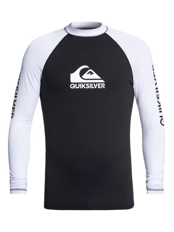 0 On Tour - Long Sleeve UPF 50 Rash Vest for Men Black EQYWR03138 Quiksilver