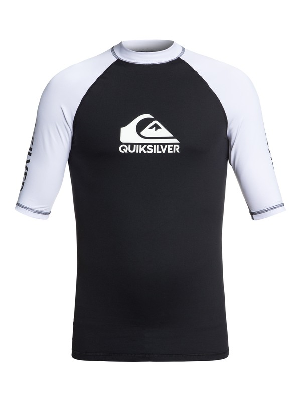 0 On Tour - Short Sleeve UPF 50 Rash Vest for Men Black EQYWR03139 Quiksilver