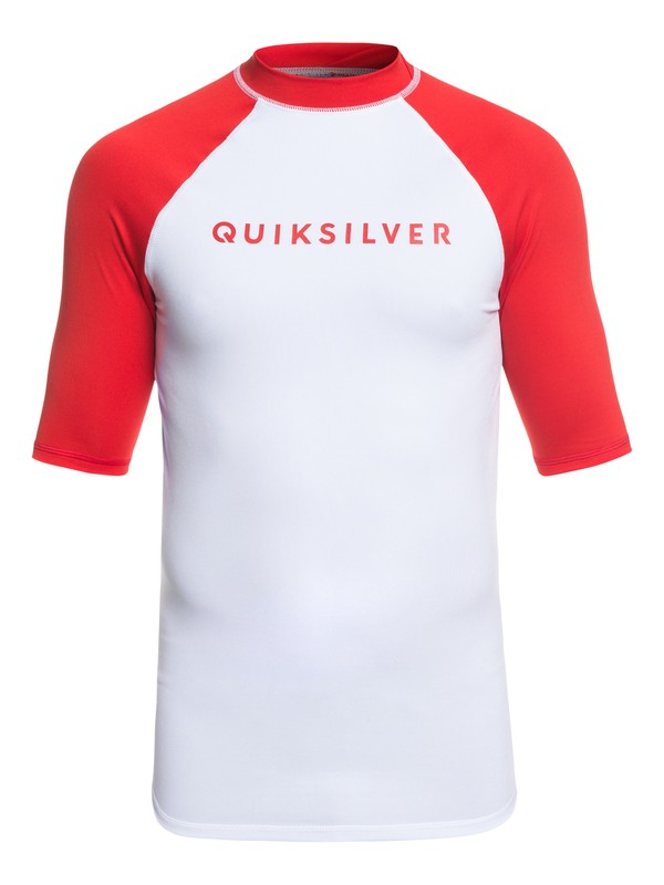 0 Always There - Short Sleeve UPF 50 Rash Vest for Men Red EQYWR03142 Quiksilver