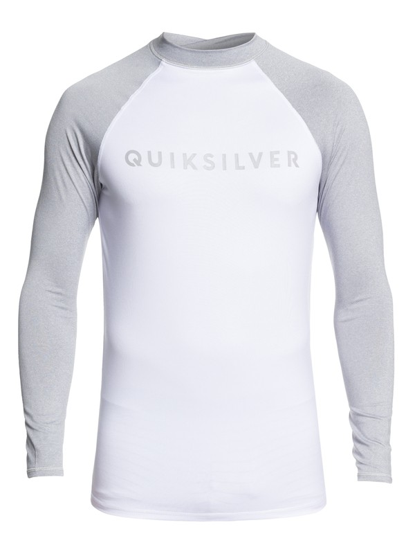 0 Always There Long Sleeve UPF 50 Rashguard Grey EQYWR03143 Quiksilver