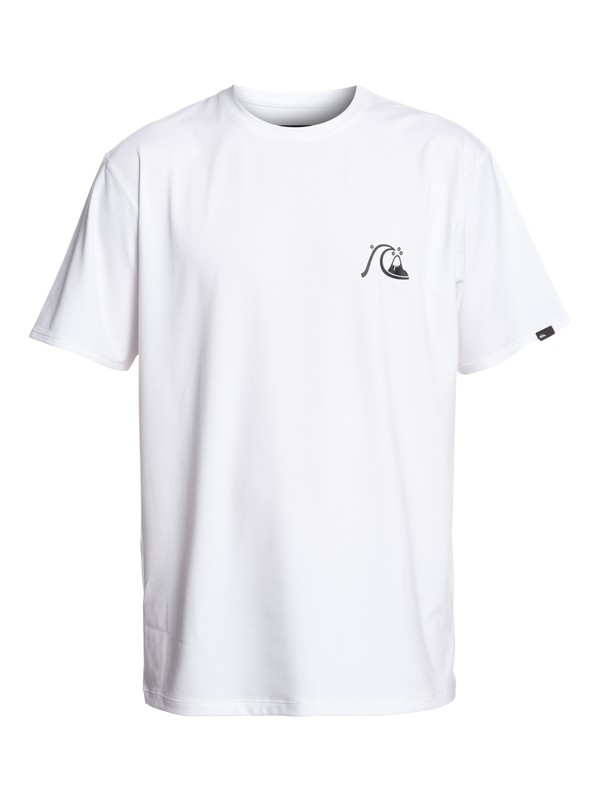 0 Bubble Logo Short Sleeve UPF 50 Surf Tee White EQYWR03151 Quiksilver