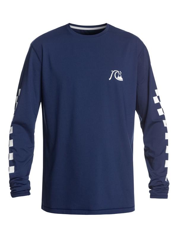 0 Turbo - Camiseta de Surf de Manga Larga con UPF 50 para Hombre Azul EQYWR03152 Quiksilver