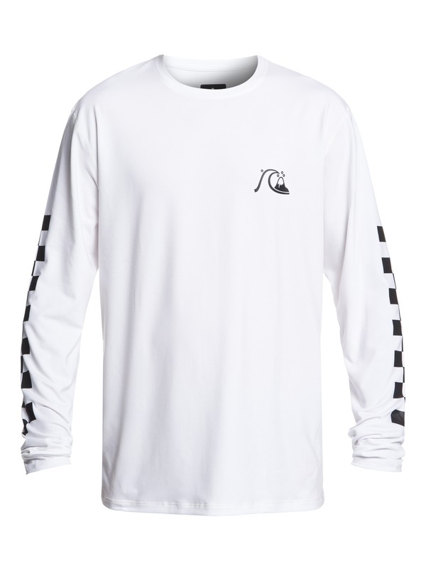 0 Turbo Long Sleeve UPF 50 Surf Tee White EQYWR03152 Quiksilver