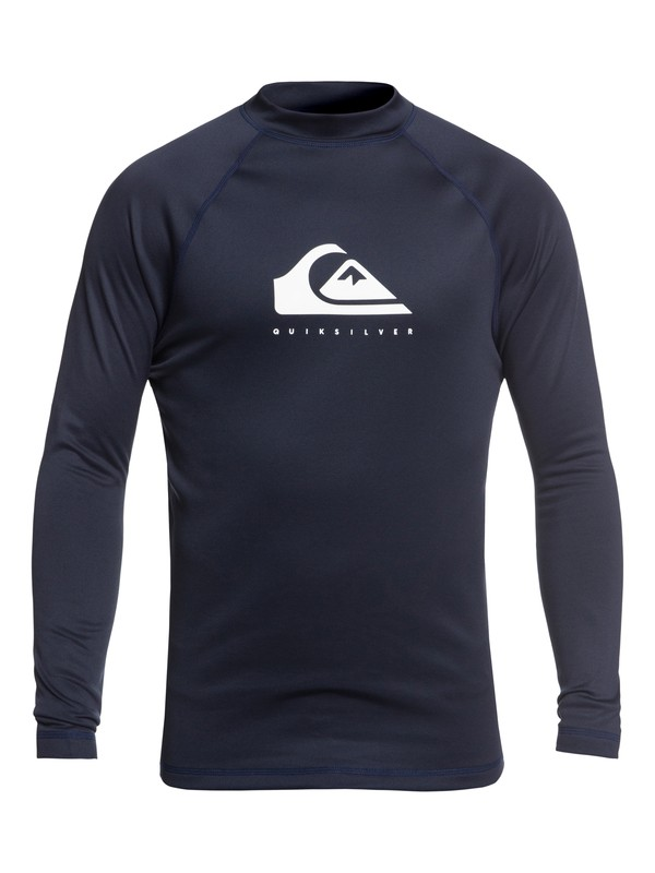 0 Heater - Long Sleeve UPF 50 Rash Vest for Men Blue EQYWR03156 Quiksilver