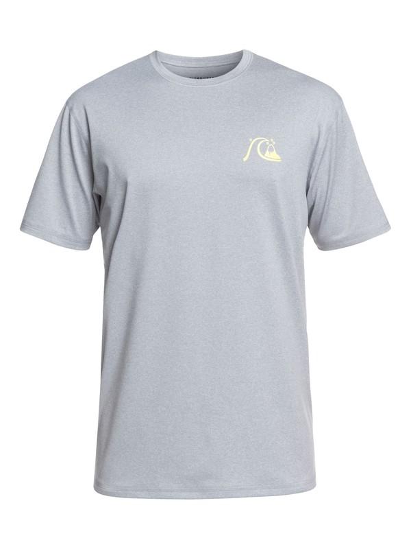 0 El Capitan - Camiseta de Surf de Manga Corta con Protección Solar UPF 50 para Hombre Gris EQYWR03158 Quiksilver