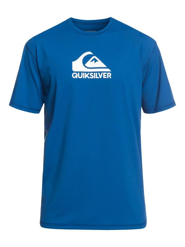 0 Camiseta para Surf con Manga Corta con FPS 50  Solid Streak Morado EQYWR03159 Quiksilver
