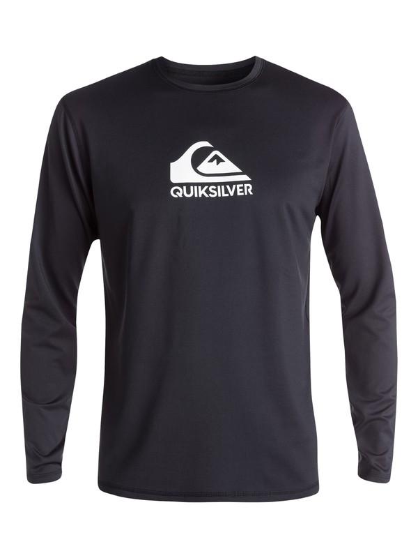 0 Camiseta de surf de Manga Larga con FPS 50 Solid Streak Negro EQYWR03160 Quiksilver