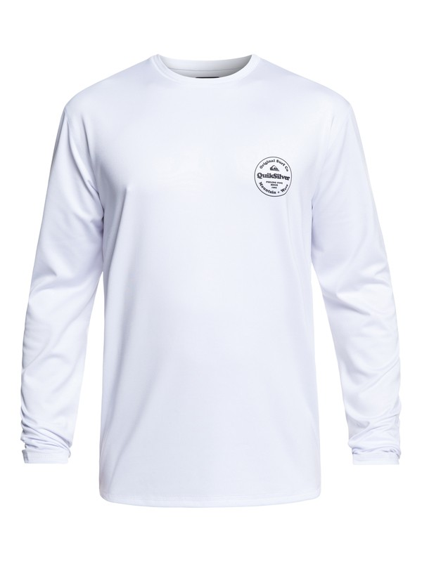 0 King Tide Long Sleeve UPF 50 Surf Tee White EQYWR03163 Quiksilver