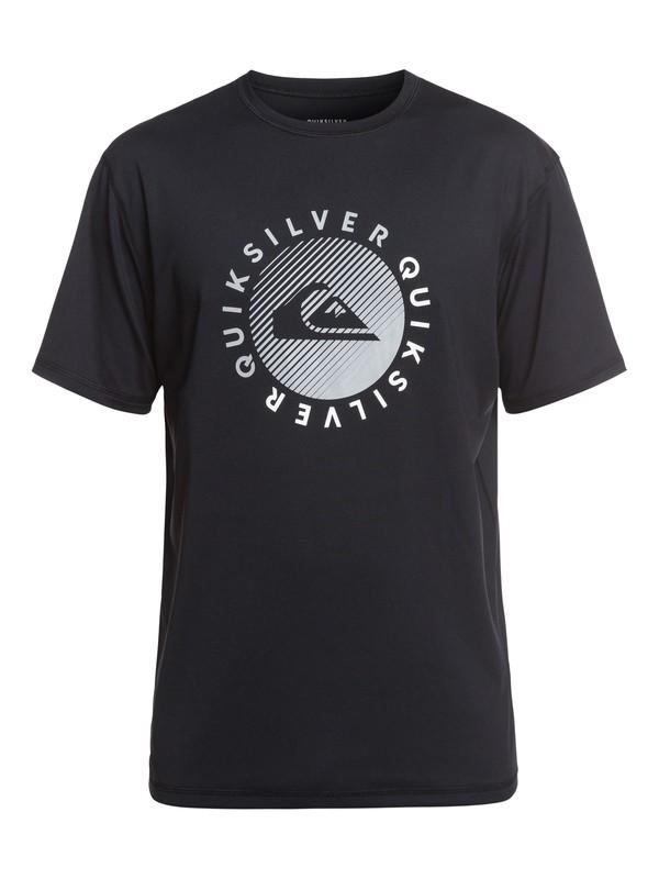 0 Razors Short Sleeve UPF 50 Surf Tee Black EQYWR03166 Quiksilver