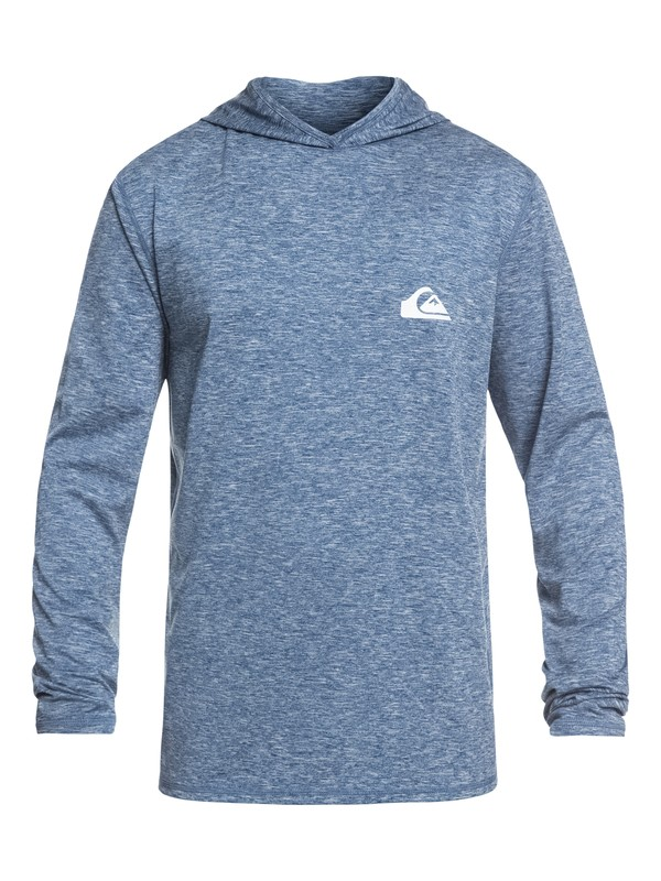 0 Dredge Long Sleeve UPF 50 Hooded Surf Tee Blue EQYWR03167 Quiksilver