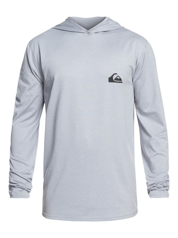 0 Dredge Long Sleeve UPF 50 Hooded Surf Tee Grey EQYWR03167 Quiksilver