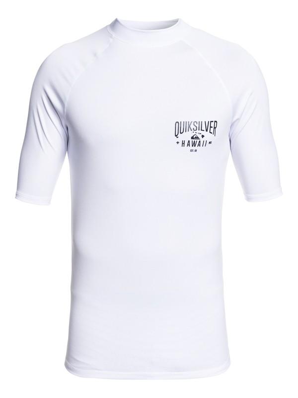 0 Kona Way Short Sleeve UPF 50 Rashguard White EQYWR03193 Quiksilver
