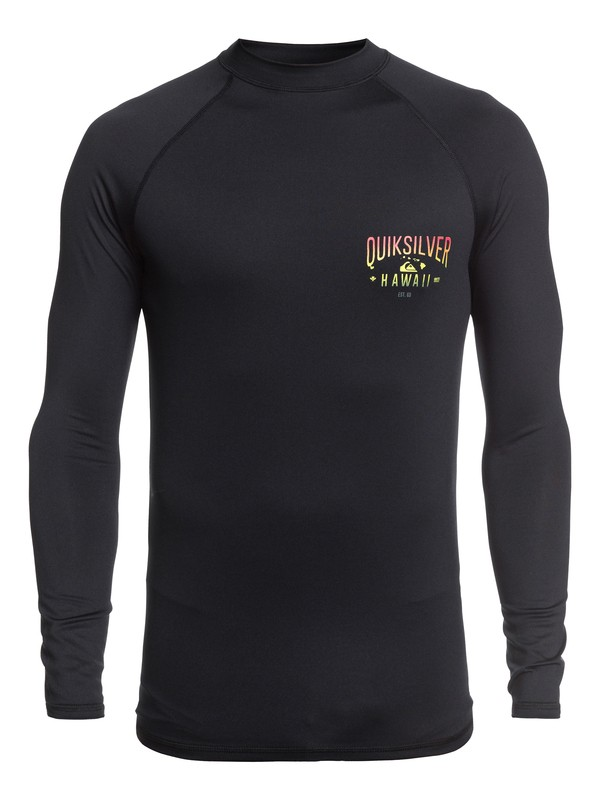 0 Kona Way Long Sleeve UPF 50 Rashguard Black EQYWR03194 Quiksilver