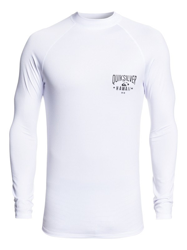 0 Kona Way Long Sleeve UPF 50 Rashguard White EQYWR03194 Quiksilver