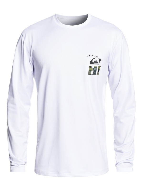 0 Hawaii Serious Long Sleeve UPF 50 Surf Tee White EQYWR03200 Quiksilver