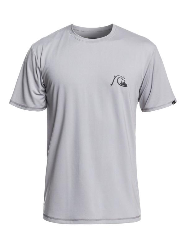 0 Bubble Logo Short Sleeve UPF 50 Rashguard Grey EQYWR03201 Quiksilver