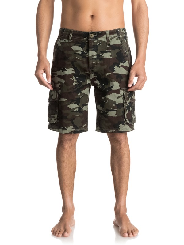 0 Everyday Deluxe Cargo Shorts Green EQYWS03454 Quiksilver