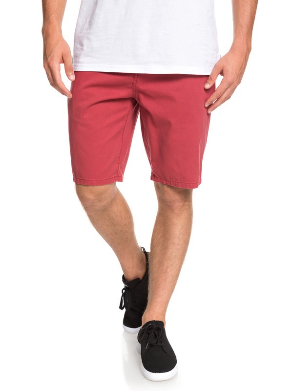 0 Everyday - Chino Shorts for Men Red EQYWS03468 Quiksilver
