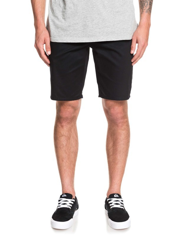 0 New Union Stretch Chino Shorts Black EQYWS03469 Quiksilver