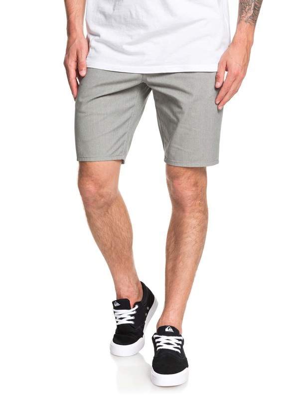 0 New Union Stretch Chino Shorts Grey EQYWS03469 Quiksilver