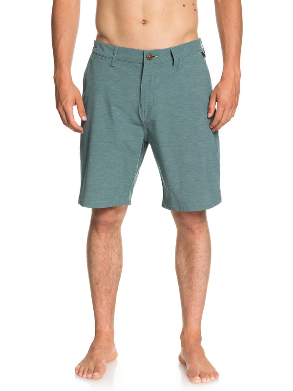"0 Shorts Amphibian Heather Union de 20"" Azul EQYWS03488 Quiksilver"