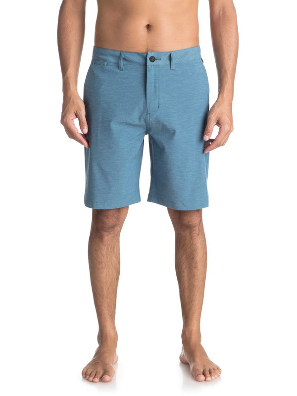"0 Union Heather 20"" Amphibian Shorts Blue EQYWS03488 Quiksilver"