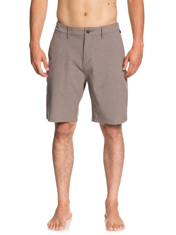 "0 Union Heather 20"" Amphibian Shorts Grey EQYWS03488 Quiksilver"