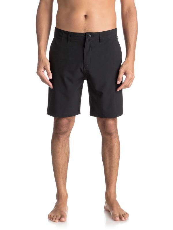 "0 Union 19"" - Amphibian Board Shorts for Men Black EQYWS03492 Quiksilver"