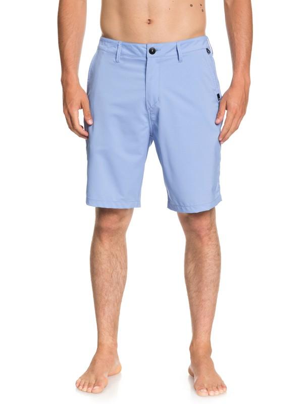 "0 Transit Twill 20"" Amphibian Boardshorts Blue EQYWS03494 Quiksilver"
