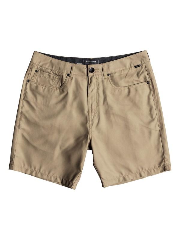 "0 Nelson 18"" Amphibian Shorts Brown EQYWS03500 Quiksilver"