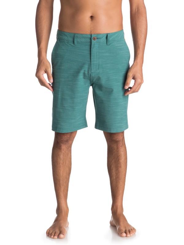 """0 Union Slub 20"""" Amphibian Boardshorts Green EQYWS03501 Quiksilver"""