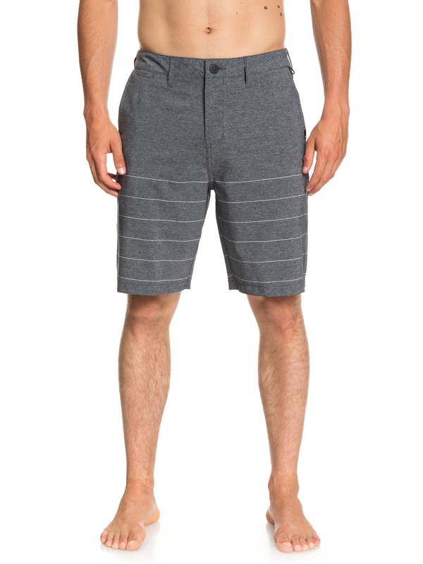 "0 Union Stripe 20"" Amphibian Shorts Black EQYWS03533 Quiksilver"