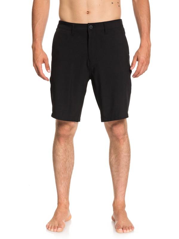 "0 Union 20"" Amphibian Shorts Black EQYWS03537 Quiksilver"