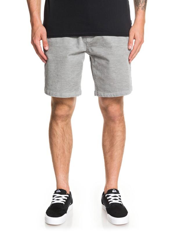 0 Finyl Vinyl Corduroy Shorts Grey EQYWS03566 Quiksilver