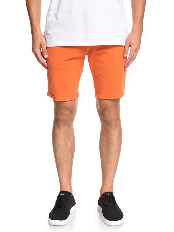 0 Krandy - Short Chino para Hombre Naranja EQYWS03570 Quiksilver