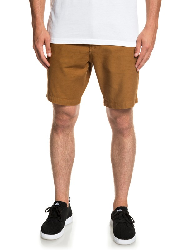 0 Mitake - Fatigue Shorts for Men Brown EQYWS03576 Quiksilver
