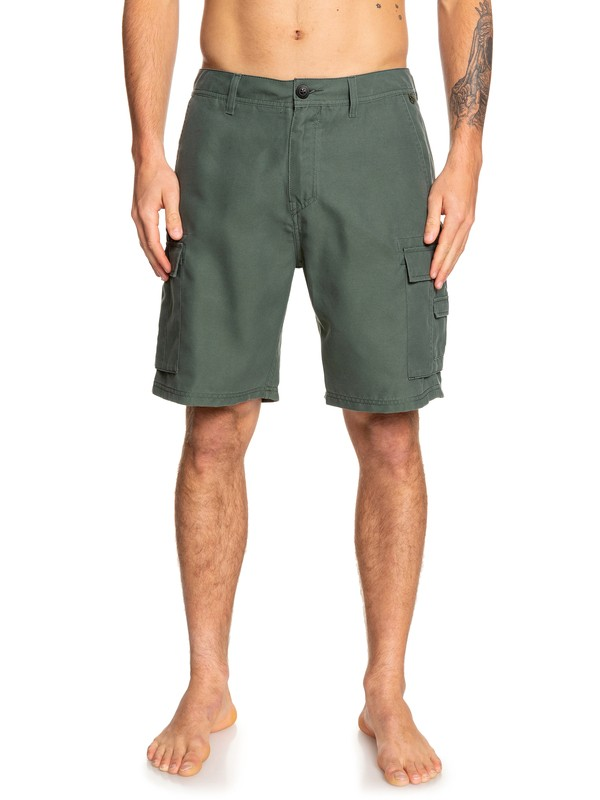 "0 Rogue Surfwash 20"" Amphibian Boardshorts Brown EQYWS03589 Quiksilver"