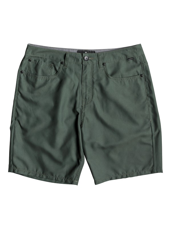 "0 Nelson Surfwash 18"" - Amphibian Board Shorts for Men Brown EQYWS03590 Quiksilver"