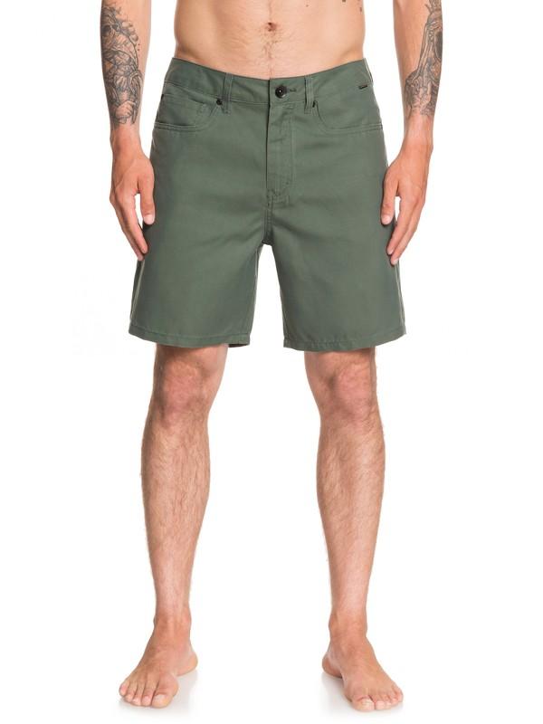 "0 Nelson Surfwash 18"" - Amphibian Board Shorts Brown EQYWS03590 Quiksilver"