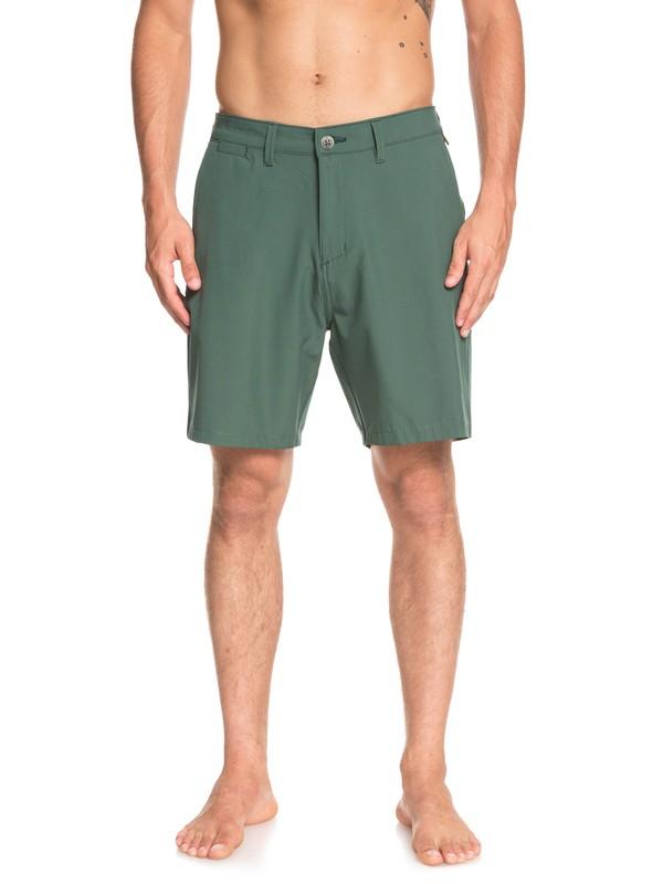 """0 Union Amphibian 19"""" - Amphibian Board Shorts for Men Green EQYWS03591 Quiksilver"""